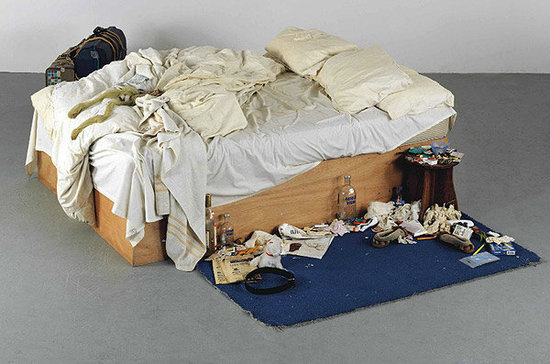 TRACEY EMIN, MY BED (1998). PHOTO: COURTESY OF TATE.